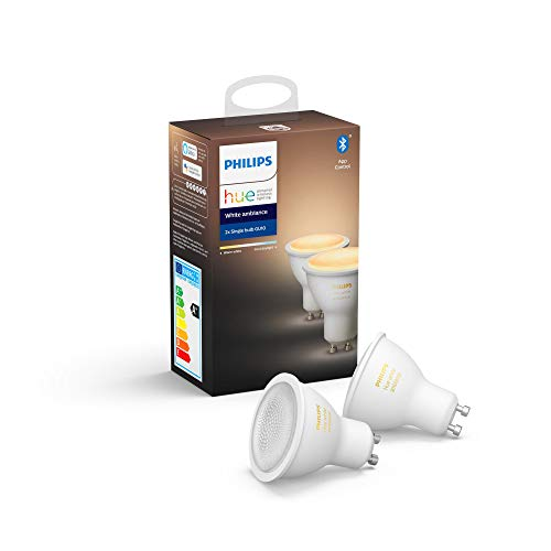 Philips Hue White Ambiance Paquete de 2 Bombillas Led...