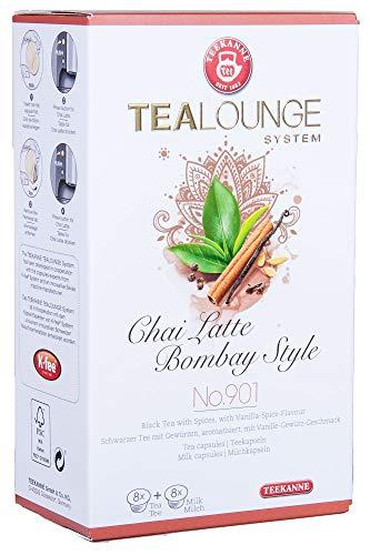 Teekanne Tealounge Kapseln - Chai Latte Bombay Style No. 901 Schwarzer Tee (16 Kapseln)