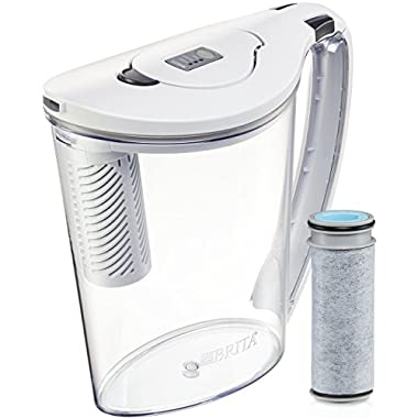 Brita 10 Cup Stream Filter as You Pour Water Pitcher with 1 Filter, Hydro, BPA Free, Available in Multiple Colors