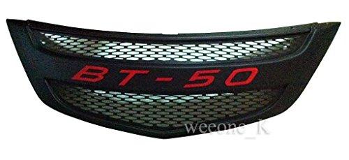 K1AutoParts Front Matt Black Grille Grill Red Logo For Mazda BT50, BT-50,BT 50 Pro Pickup 2012 2013 2014 2015