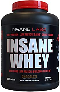 Insane Labz Insane Whey,100% Muscle Building Whey Isolate Protein, Post Workout, BCAA Amino Profile, Mass Gainer,Meal Repl...