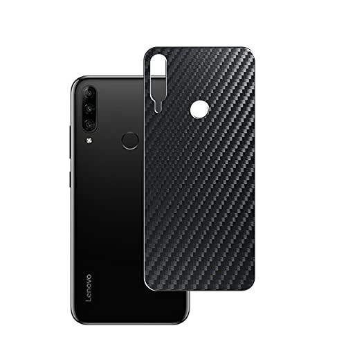 Vaxson 2-Pack Back Protector Film, compatible with Lenovo K10 Plus, Black Carbon Fiber Guard Cover Skin [Not Tempered Glass/Not Front Screen Protectors]