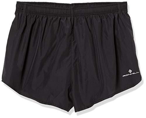Ronhill – Pantaloncini Corti da Uomo, Uomo, Pantaloncini, Everyday Split, all Black, L