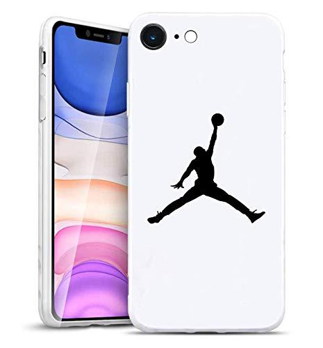 Toxdi Air Man Logo iPhone 6/6S Funda, Carcasa Silicona Protector Anti-Choque Ultra-Delgado Anti-arañazos Case Caso para Teléfono iPhone 6/6S (Blanco)