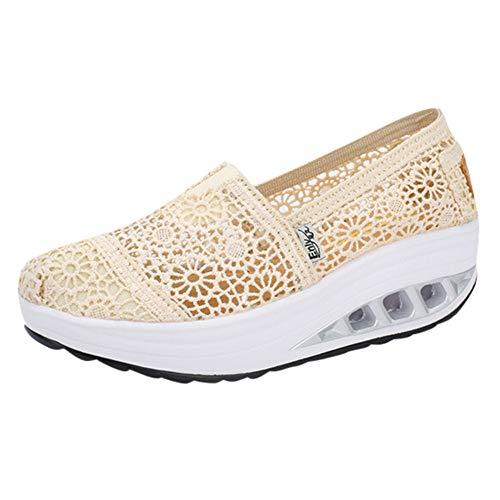 Zapatillas Mujer Plataforma Cuña Verano 2019 PAOLIAN