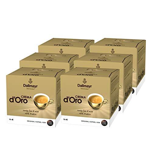 Nescafé Dolce Gusto Dallmayr Crema d´Oro, Kaffee, Kaffeekapsel, 6er Pack, 6 x 16 Kapseln