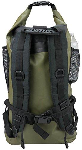 Relentless Recreation Waterproof 30L Backpack,  Olive Green