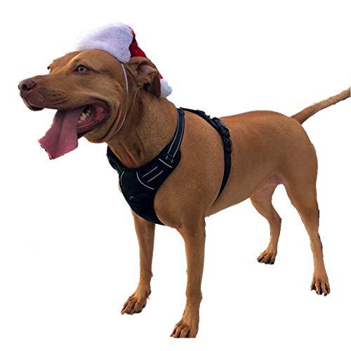 Louvra Einstellbare Gepolsterter Hundegeschirr Brustgeschirre aus Nylon Oxford für große Mittlere und Kleine Hunde(S-M-L-XL)