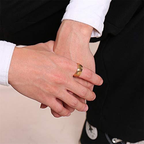 Sailormjy Ring voor heren, roestvrij staal, boeddhistische punk biker ring, cadeau voor mannen en vrouwen 11 goud