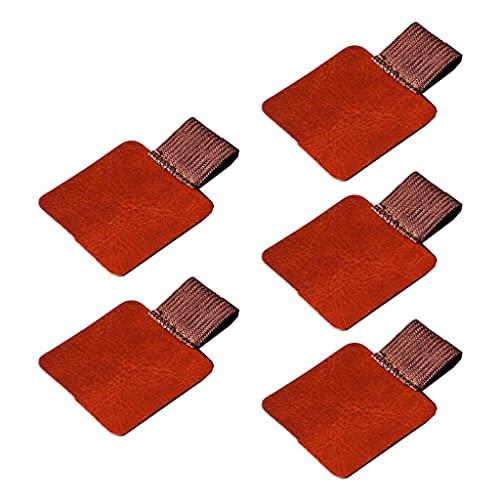 Ydh 5 piezas de cuero soporte para bolígrafos para cuadernos, diarios, planificadores, tableta, lápiz o bolígrafo, lápiz capacitivo y accesorios de almacenamiento portátil