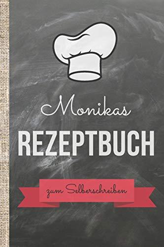 Monikas Rezeptbuch zum Selberschreiben: Kochbuch selbst schreiben mit persönlichen Rezepten! Das 120 Seiten starke ca. A5 große Notizbuch mit ... Kochrezepte in angesagter Schieferoptik.