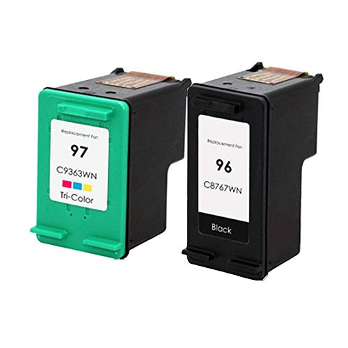 Cartucho de tinta de alta rendimiento compatible para HP 96 97, para 5740 5740xi 5743 5745 5748 5940 Impresora combo pack1