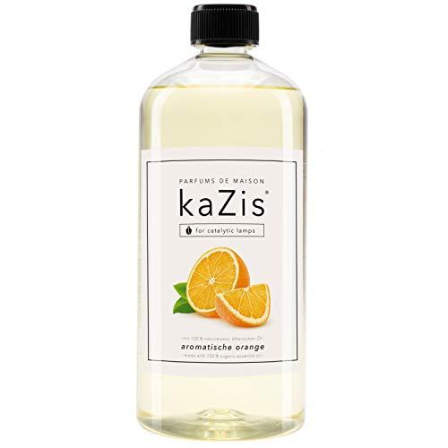 KAZIS I Orange Raum-Duft I Passend für alle katalytischen Lampen I Parfums de Maison I Nachfüll-Öl (Refill) I 1000 ml I 1 Liter