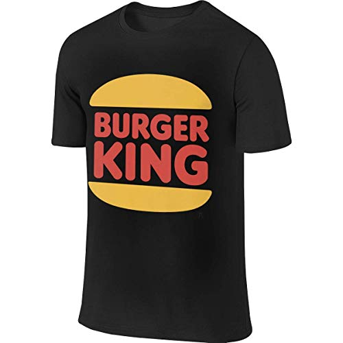 Mens Personalized Classic tee Burger King Logos T Shirts Camisetas y Tops(Small)
