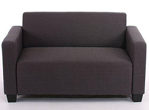 Mendler Sistema modulare Lione N71 salotto tessuto divano 2 posti ~ antracite