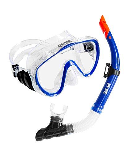 PI-PE Pure Snorkelset voor volwassenen, van snorkel en duikbril, anti-condens, voor dames en heren