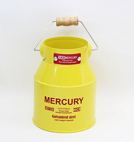 MERCURY マーキュリー・ミルク缶 mini ブリキのバケツ イエロー