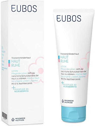 Eubos Haut Ruhe Lotion (1x125ml) für die tägliche Ganzkörperpflege bei trockener Kinder- und Baby-Haut empfohlen