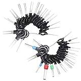 38 Pcs KFZ Kabel Stecker Ausbau Werkzeug Terminal Steckverbindung Demontage Pin Extractor Tool Entriegelungswerkzeug für Flach- und Rundsteckkontakte
