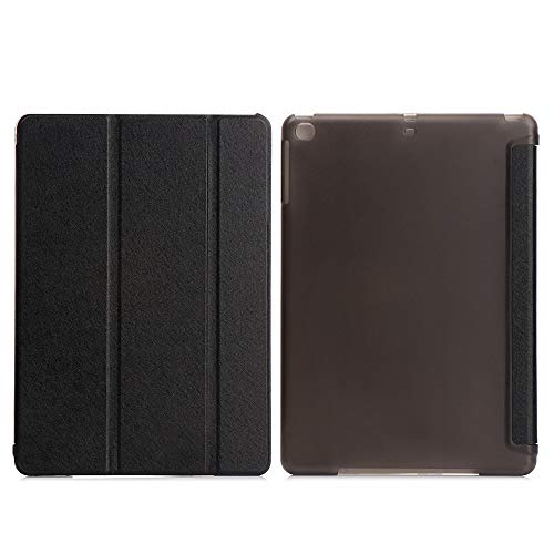 1pc New Silk Pattern Auto Sleep/Wake Protective Shell Leather Smart Tablet Cover Case(pro10.5/ipad air3 10.5,black)