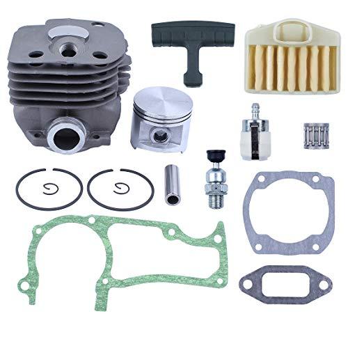 Haishine NIKASIL 50mm Zylinderkolben-Luftfilter-Dekompressionsventil für Husqvarna 365 371 372 362 Kettensägen-Motorteile