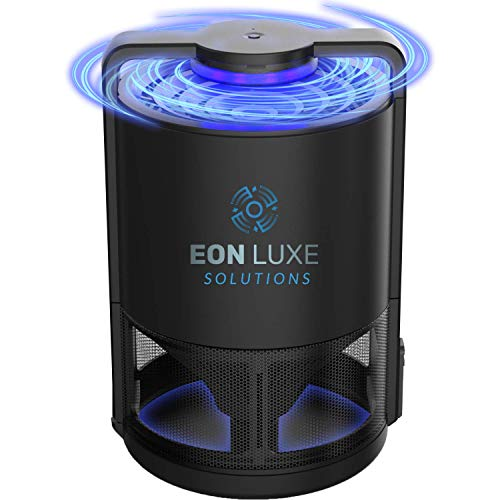 Eon Luxe Solutions Indoor Mosquito Killer & Fruit Fly Trap - NO ZAPPING NONTOXIC - Also Catches Fungus Gnats, Drain & Moth Flies, Mosquitoes, No-See-ums - Insect Killer - Indoor Kitchen Bug Catcher