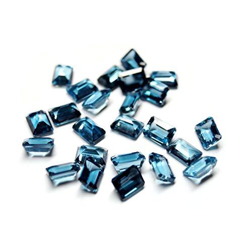 Neerupam Collezione Topazio Blu London Naturale qualità AAA 8x6 mm Ottagono Sciolto Gemma, Topazio Blu London Naturale Sciolto Pietra preziosa per la creazione di Gioielli