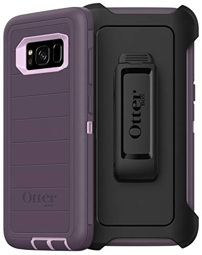 OtterBox Defender Series Rugged Case & Holster for Samsung Galaxy S8 (Only) Non-Retail Packaging - Purple Nebula (with Microbial Defense)