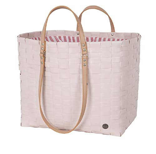 Leisure bag fat strap nude size L with drawstring closure and PU handles
