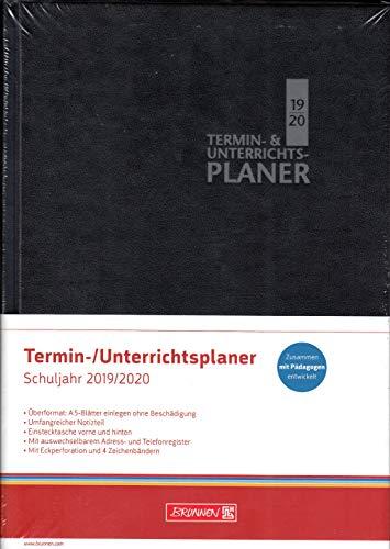 Brunnen Termin & Unterrichtsplaner - Lehrerkalender A4+ Schuljahr 2019-2020 - Schwarz 30 cm x 23,5 cm