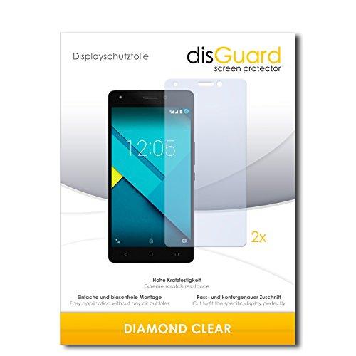 disGuard 2 x Bildschirmschutzfolie BQ Aquaris M5.5 Schutzfolie Folie DiamondClear unsichtbar