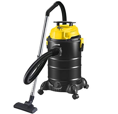 DMS 4 in 1 Industriestaubsauger 1800 Watt | Nasssauger | Aschesauger | Trockensauger | Staubsauger | beutellos | 30 Liter | Mehrzwecksauger | Blasfunktion | Gelb
