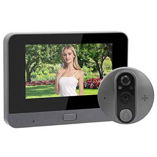 Timbre de video, control de aplicación, timbre de intercomunicación de aleación de zinc, monitor de cámara de puerta, pantalla LCD para villa, oficina, apartamento, hogar