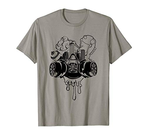 Gas Mask Graffiti Street Art T-Shirt