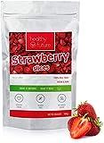 Fresas liofilizadas 100% naturales, sin gluten, sin azúcares añadidos, sin conservantes, merienda de fruta saludable (100g)