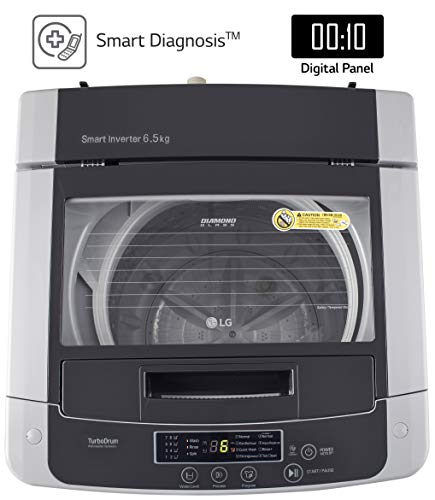 LG 6.5 Kg 5 Star Smart Inverter Fully-Automatic Top Loading Washing Machine (T65SKSF4Z, Middle Free Silver) 3
