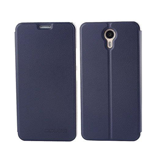 Tasche für Ulefone Power II Hülle, Ycloud PU Ledertasche Metal Smartphone Flip Cover Hülle Handyhülle mit Stand Function Marineblau