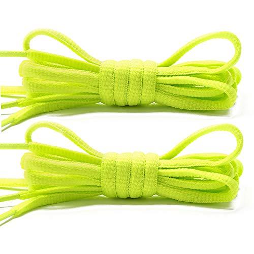 Stepace 2 Paar Runde Schnürsenkel für Turnschuhe 60cm - 200cm Länge 18 farbige Schnürsenkel Grün 200cm