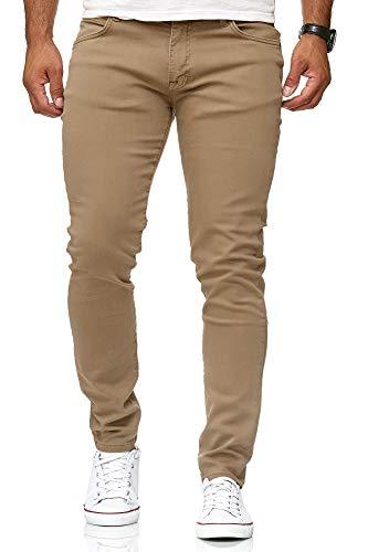 Red Bridge Herren Jeans Hose Slim-Fit Röhrenjeans Denim Colored Camel W33 L32