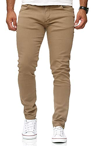 Red Bridge Jeans Slim-Fit Básico Chino de Hombres Denim Elásticos Moda Vaquero Marron