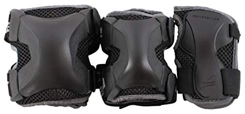 Rollerblade X-Gear 3 Pack Inliner Schoner, Schwarz, M