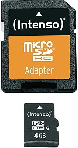Intenso Tarjeta Micro SDHC 4GB Clase 4 con Adaptador CL4