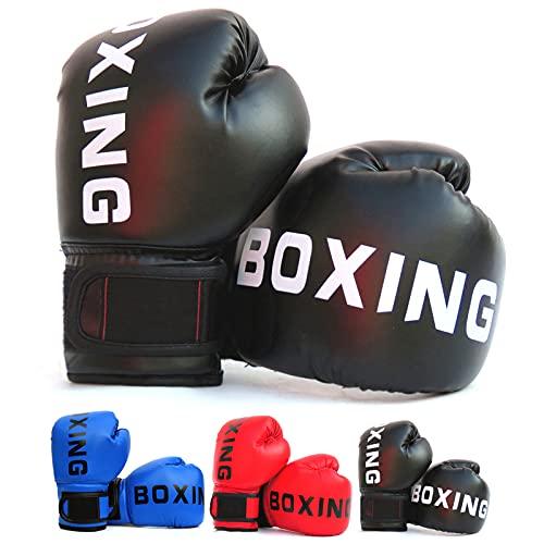 Guantes de Boxeo para Entrenamiento y Sparring, Guantes de Combate, Guantes de Saco de Boxeo para MMA Muay Thai y Kick Boxing