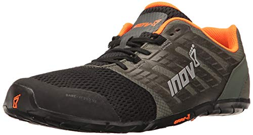 Inov-8 Men's Bare-XF 210 v2 (M) Cross Trainer, Grey/Black/Orange, 12 D US