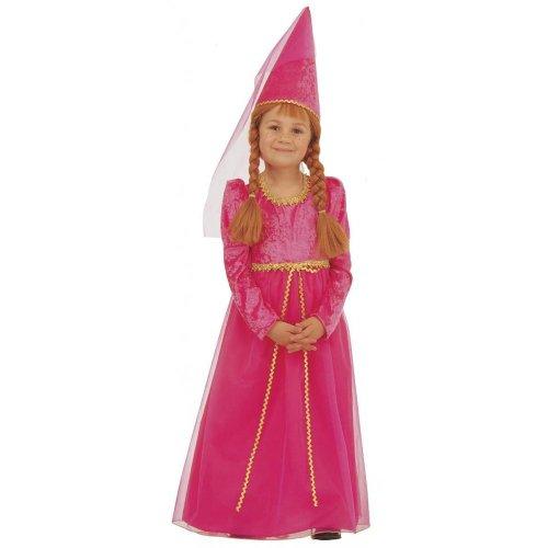 Kinder Mittelalter Kostüm Burgfräulein Kleid Burgdame 116cm