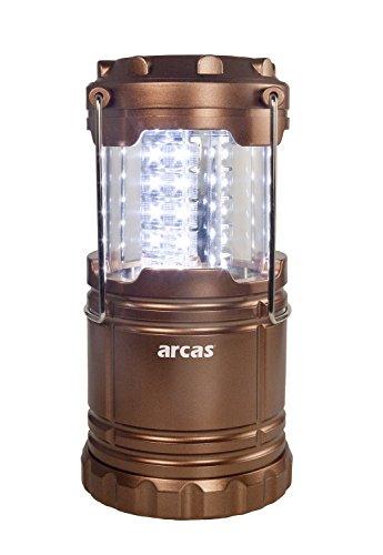 Arcas 30720008 LED Camping Laterne, 30 LED, kupfer,8.8  x  8.8  x  12.4 cm