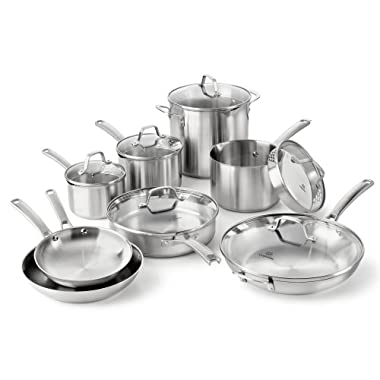 Calphalon Classic Stainless Steel Cookware Set, 14-Piece