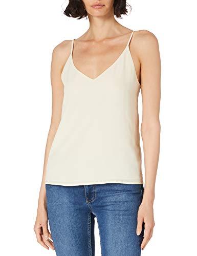 Scotch & Soda Jersey-Trägertop mit V-Ausschnitt Camiseta, 0001 Off White, XL para Mujer