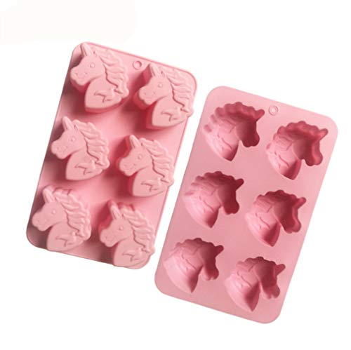 Freesiom Moulessilicone Patisserie Original Chocolat 3D Gâteaux Formes Licorne Animaux Fantaisie Bonbon Kawaii Résistant Biscuit Cookies Dessert Enfant DIY