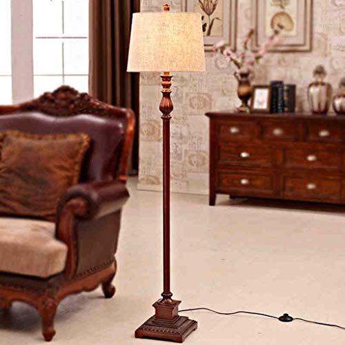 BINGFANG-W Dormitorio Llevó la lámpara de piso, la sala de estar del sofá del dormitorio de noche creativo sencillo estilo americano El Mar Mediterráneo rural Retro lámpara de pie, Eye-Cuidado Vertica